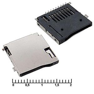 micro-SD SMD 8pin ejector Держатель карт