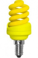 Ecola Spiral Color 12W 220V E14 Yellow Желтый 95x43