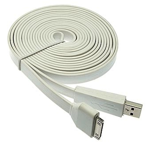 USB to iPhone 4 big Flat 3m Шнур для моб. устр.