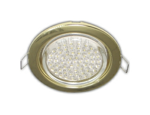 Ecola GX53 H4 Downlight without reflector_gold (светильник) 38x106 - 10 pack